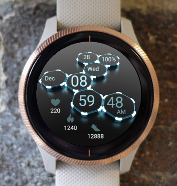 Garmin Watch Face - Light Hexagons