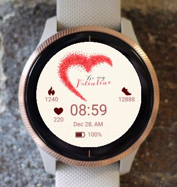 Garmin Watch Face - Valentines Hearts