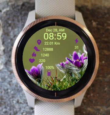 Garmin Watch Face - RX Flower