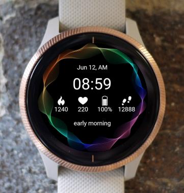 Garmin Watch Face - Dark Vibration