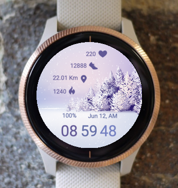 Garmin Watch Face - Purple Winter