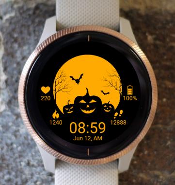 Garmin Watch Face - Halloween Day G
