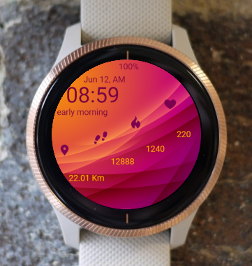 Garmin Watch Face - Embossed