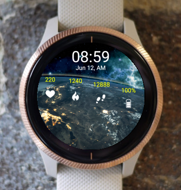 Garmin Watch Face - Earth Night SS
