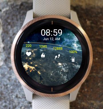 Garmin Watch Face - Earth Night SS