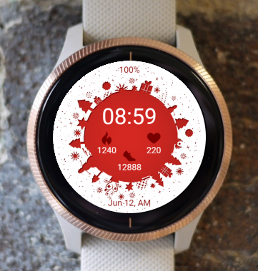 Garmin Watch Face - Christmas Time