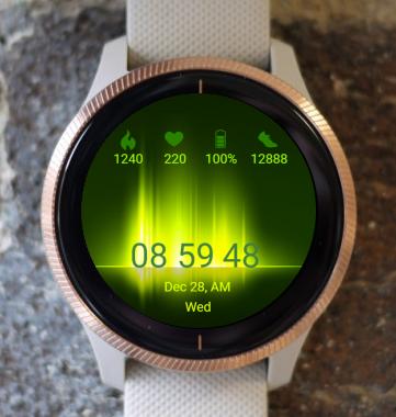 Garmin Watch Face - Neon Light