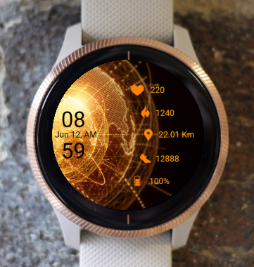 Garmin Watch Face - Golden Earth