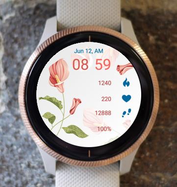 Garmin Watch Face - Flowers