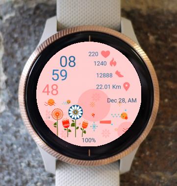 Garmin Watch Face - Flower Drawing
