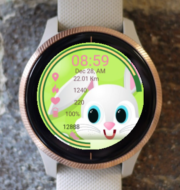 Garmin Watch Face - Bunny Watching