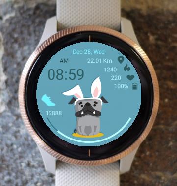 Garmin Watch Face - Dog Rabbit