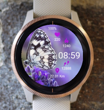 Garmin Watch Face - In Lavender