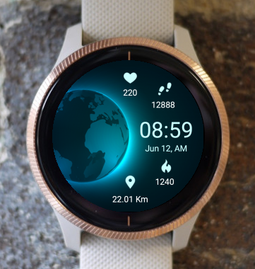 Garmin Watch Face - Earth v2