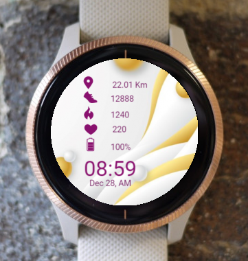 Garmin Watch Face - Waves Elegantly