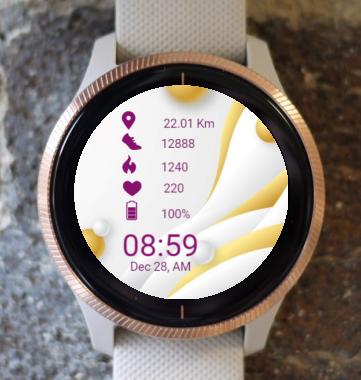 Garmin Watch Face - Waves Elegantly