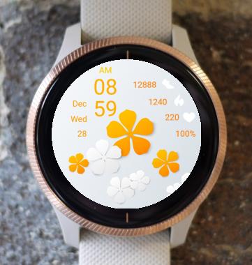 Garmin Watch Face - Orange Flowers