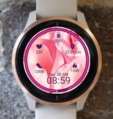 Garmin Watch Face - Flower Roz 2