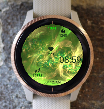 Garmin Watch Face - Green Smoke