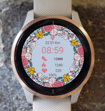 Garmin Watch Face - Joyful Spring