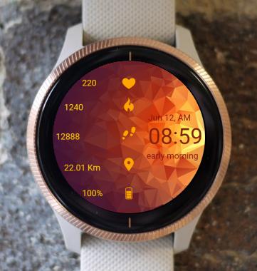 Garmin Watch Face - Abstract Globe