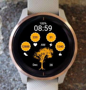 Garmin Watch Face - F-Tree