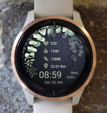 Garmin Watch Face - Green Leaves