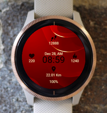 Garmin Watch Face - Elegant Red
