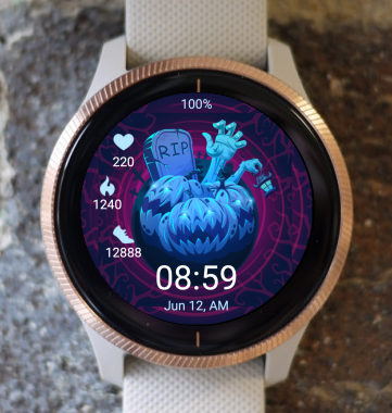 Garmin Watch Face - Blue Pumpkin