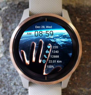 Garmin Watch Face - From Space