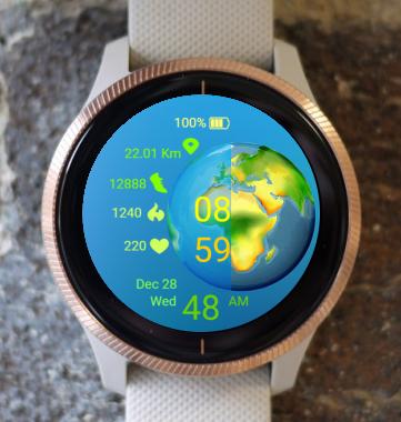 Garmin Watch Face - Earth Day 01