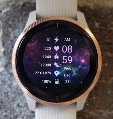 Garmin Watch Face - Galaxy