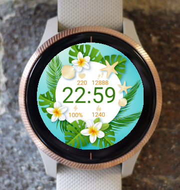 Garmin Watch Face - Spring Flower G