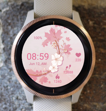 Garmin Watch Face - Autumn With Flowers