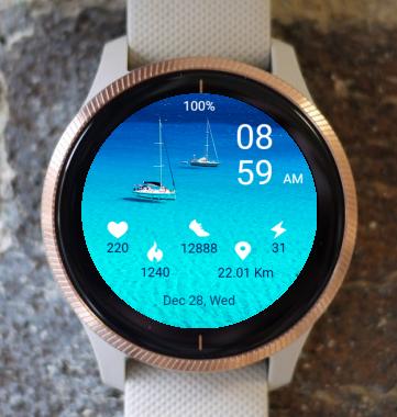Garmin Watch Face - Sailing 01