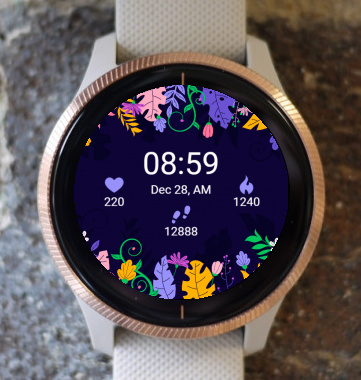 Garmin Watch Face - Moon Flowers G