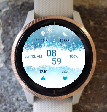 Garmin Watch Face - Snowing
