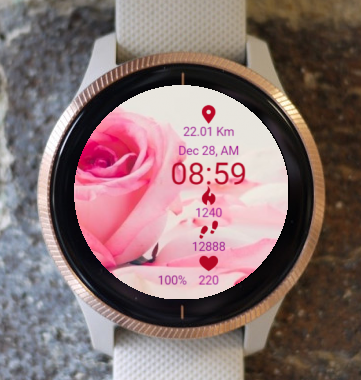 Garmin Watch Face - Rose Of Love