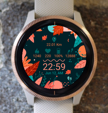 Garmin Watch Face - Leaves G
