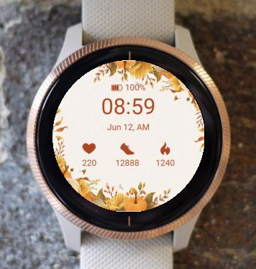 Garmin Watch Face - Autumn frame