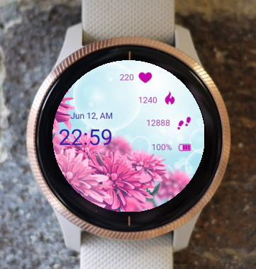 Garmin Watch Face - PinkFlower