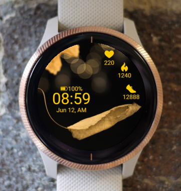 Garmin Watch Face - Focus on autumn
