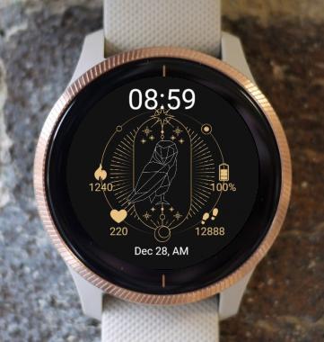Garmin Watch Face - Owl Astrological Tarot G