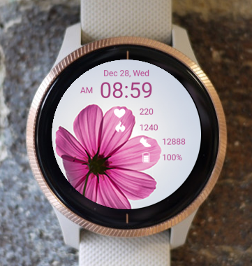 Garmin Watch Face - Flower Head