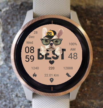 Garmin Watch Face - Dog 01