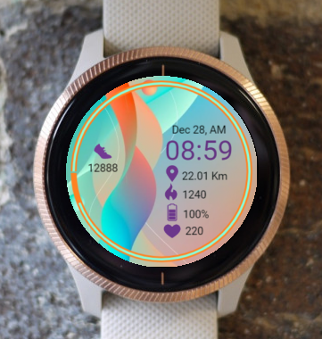 Garmin Watch Face - Joy Wave
