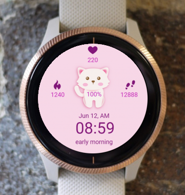 Garmin Watch Face - Kitty