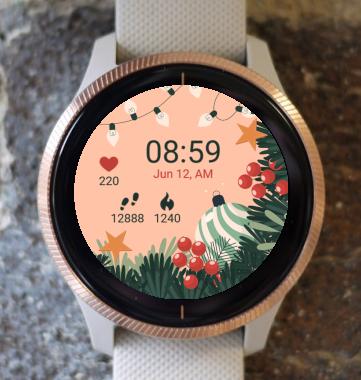 Garmin Watch Face - Christmas Light Globes G