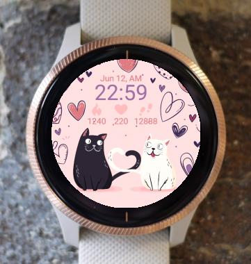 Garmin Watch Face - Cat Love G
