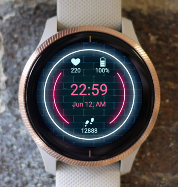 Garmin Watch Face - Neon G